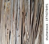 Small photo of Dry reeds neatly arranged lengthwise