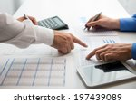 business people at work in... | Shutterstock . vector #197439089