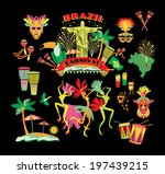 brazilian carnival. vector icon ...