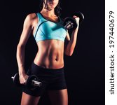 fitness girl in training with... | Shutterstock . vector #197440679