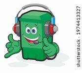 trash can cartoon character.... | Shutterstock . vector #1974413327