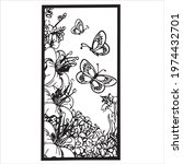 Abstract Poster With Butterfly. ...
