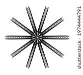 geometric mandala   radial ... | Shutterstock .eps vector #1974444791