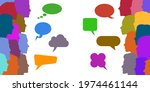 people speech  discussion ... | Shutterstock .eps vector #1974461144
