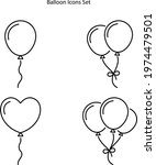 balloons icons set isolated on... | Shutterstock .eps vector #1974479501