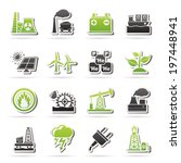electricity and energy source... | Shutterstock .eps vector #197448941