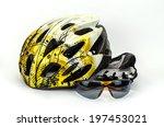 bicycle helmet  glasses and... | Shutterstock . vector #197453021
