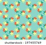 abstract retro pattern. vector... | Shutterstock .eps vector #197455769