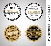 high quality labels set | Shutterstock .eps vector #197456654