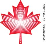 maple leaf vector abstract icon ... | Shutterstock .eps vector #1974586037