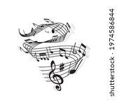 musical wave of vector music...   Shutterstock .eps vector #1974586844