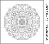 mandala circle pattern....   Shutterstock .eps vector #1974615284