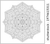mandala circle pattern....   Shutterstock .eps vector #1974615311