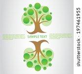 tree vector  | Shutterstock .eps vector #197461955
