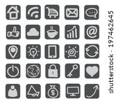 hand draw web  business  icons ... | Shutterstock .eps vector #197462645