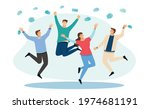 vaccinated. takes off medical... | Shutterstock .eps vector #1974681191