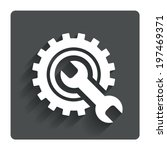 repair tool sign icon. service...