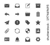 email flat icons | Shutterstock .eps vector #197469695