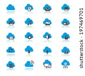 cloud computing flat with... | Shutterstock .eps vector #197469701