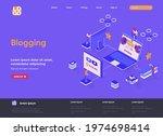 blogging isometric landing page....
