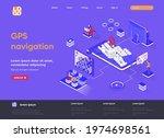 gps navigation isometric...