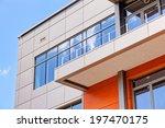 details of aluminum facade and... | Shutterstock . vector #197470175