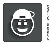 smile rapper face sign icon....