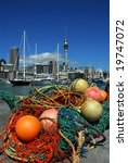 Auckland harbour in New Zealand - stock photo