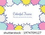 colorful speech bubble... | Shutterstock .eps vector #1974709127