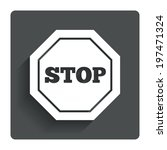 traffic stop sign icon. caution ...