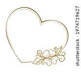 vector heart shape dotted frame ...   Shutterstock .eps vector #1974719627