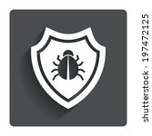 anti,antivirus,app,armor,art,badge,beetle,black,bug,button,concept,corners,creative,cut,cutout