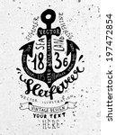 black anchor. vintage label ...