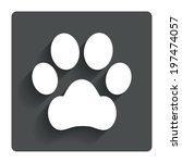 dog paw sign icon. pets symbol. ...