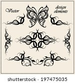 vector set of  calligraphic... | Shutterstock .eps vector #197475035