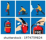 how to use a fire extinguisher. ...   Shutterstock .eps vector #1974759824