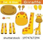 funny smiling giraffe.... | Shutterstock .eps vector #1974767294