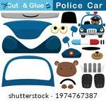 funny bear on police car.... | Shutterstock .eps vector #1974767387
