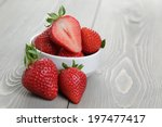 Fresh Ripe Strawberries In A...
