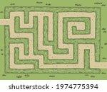 garden maze bush graphic color...   Shutterstock .eps vector #1974775394