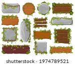 vines wooden and stone boards....   Shutterstock .eps vector #1974789521