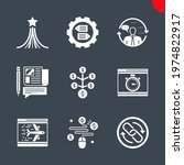 seo related vector glyph icons... | Shutterstock .eps vector #1974822917