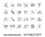 set of 24 construction web... | Shutterstock .eps vector #1974827297