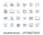set of 24 office web icons in... | Shutterstock .eps vector #1974827324
