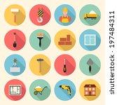 construction  building  tools... | Shutterstock .eps vector #197484311