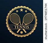 tennis logo design or icon or... | Shutterstock .eps vector #1974851744