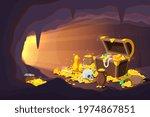 treasure cave. fantasy game... | Shutterstock .eps vector #1974867851