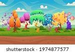fairytale background. fantasy... | Shutterstock .eps vector #1974877577