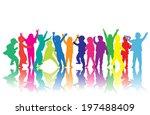 children silhouettes    Shutterstock .eps vector #197488409
