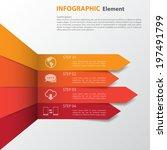 3d minimal infographics. vector | Shutterstock .eps vector #197491799